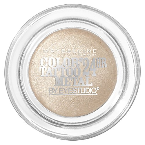 MAYBELLINE Eye Studio Color Tatoo Metal 24Hr Cream Gel Eye Shadow - Barely Branded (Tattoo Beige Maybelline Color)