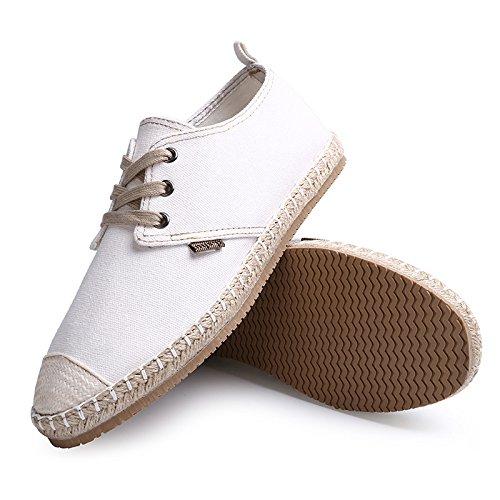 uomini espadrilli, moda casual, espadrilli uomini grandi metri di tela scarpe white