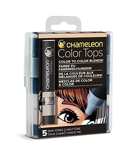 Chameleon Art Products 5 Tops miscele Colore Toni Pelle, 11x2x2