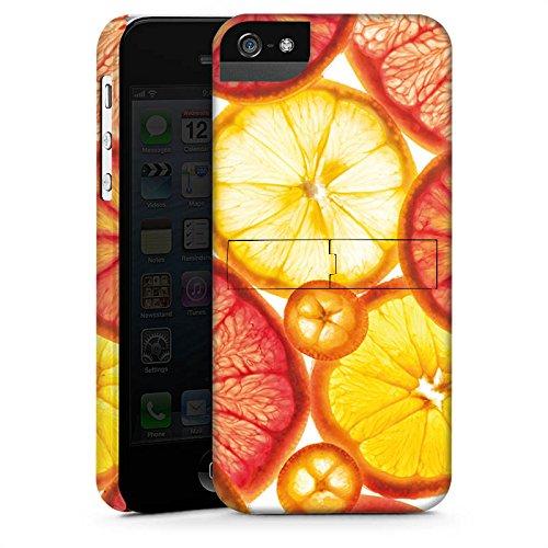 Apple iPhone X Silikon Hülle Case Schutzhülle Zitrone Orange Sommer Premium Case StandUp