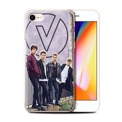 Officiel The Vamps Coque / Etui pour Apple iPhone 8 / Stylo Noir Design / The Vamps Livre Doodle Collection Coupé