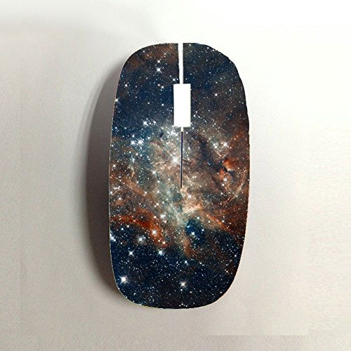 Walt Discover Shop Printing Galaxy Star Man Perfect Abs For Computer Wireless - Hot Mouse Wireless Pink