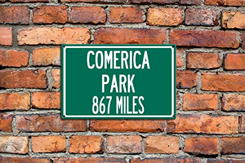 C-US-lmf379581 Stahlschild mit Aufschrift to Comeric a Park, Home of The Detroit Tigers Baseball, personalisierbar Detroit Tigers-baseball-park