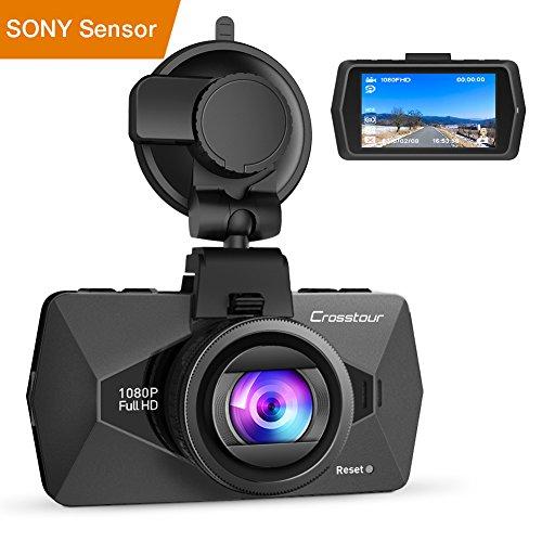 Crosstour Dashcam 1080P FHD Caméra Voiture 170°...