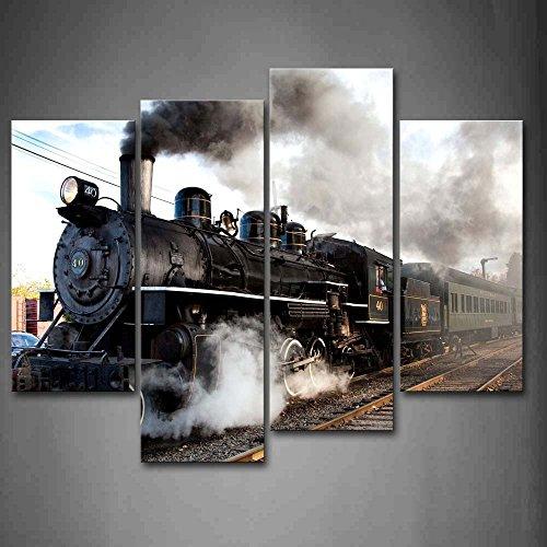 Cuadro de tren de vapor Decorativo Impresión sobre lienzo Para decoración del hogar Regalo decorativo