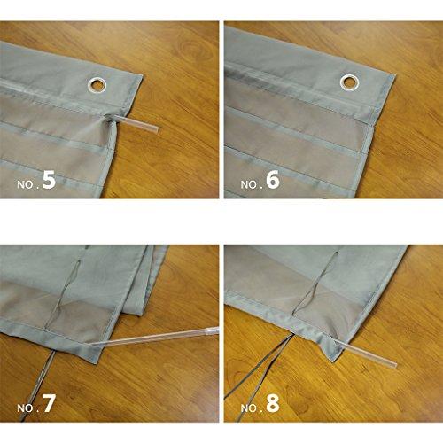 HongYa Raffrollo Voile Transparent Ösenrollo Gardine B*H 80*140cm Blau - 3