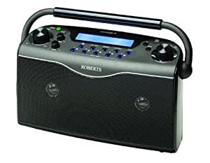 Roberts RD21B(ECO4) Ecologic 4 DAB/FM RDS Digital Stereo Radio wth up to 150 Hours Battery Life - Black