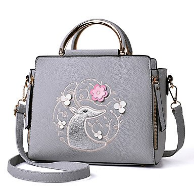 Damenmode Rüschen PU Leder Messenger Schulter Mini Taschen / Handtaschen Klt Beige