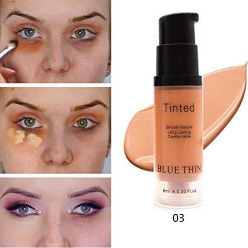 TAOtTAO Coque intégrale Anti-cernes liquide naturel Maquillage Base défauts Couverture étanche, C, 7.9*2.2cm