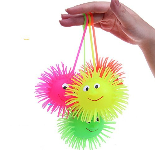 Yeah67886 kreative Yoyo-Pufferbälle mit lächelndem Gesicht, Partyspaß, 12 Stück.