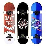 Baytter® Skateboard Komplett Board Funboard 79x20cm mit 7-lagigem Ahornholz und