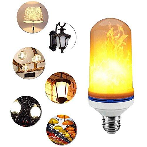 LED Efecto llama luz bombilla, Kobwa E27LED parpadeo llama bombillas simulado naturaleza animados parpadeo fuego efecto ambiente luz decorativa para barras/Home/restaurantes/Fiesta/Navidad