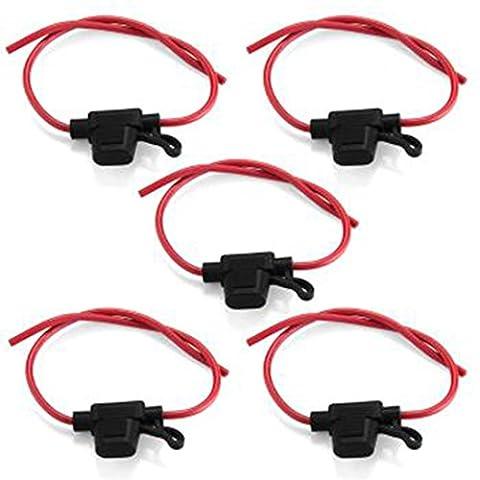 lovelifeast 5Voiture Inline lame porte-fusible imperméable Taille S Noir + Rouge De Sécurité véhicule automatique portable