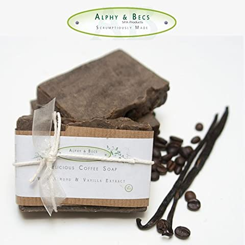 1pc - 100% Natural Handmade Soap - Coffee & Vanilla - With Cocoa Butter & Shea Butter