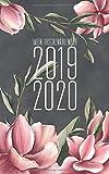 Mein Taschenkalender 2019 - 2020: Wochenplaner für 18 Monate  - von Juli 19 bis Dezember 20 - 120 Seiten - Magnolien anthrazit - 5 x 8 inch (12,7cm x 20,3cm) - Jedermann Kalender