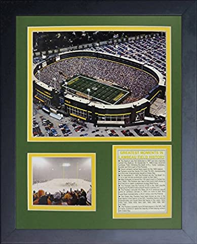 Legends Never Die Green Bay Packers Old Lambeau Field Framed Photo Collage, 11x14-Inch