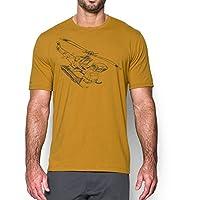 تي شيرت المروحية الرجالي من اندر ارمور, 1280886 , , Large, , Gold Ore (775)/Stealth Gray,, 1