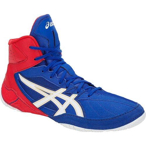 ASICS Cael V8.0 - Botas de Boxeo, Color Azul y Rojo, Color, Talla 44 EU
