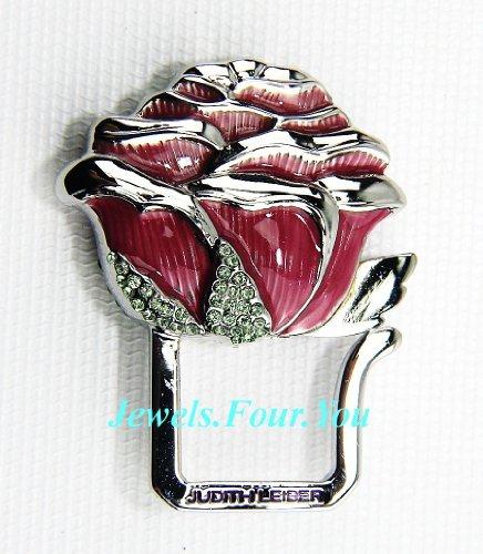 judith-leiber-pink-rose-key-ring-chain-paved-swarovski-crystal
