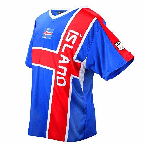 c66f9142a3f MC-Trend Iceland Soccer Jersey Blue Red Team World Championship UNISEX (L)
