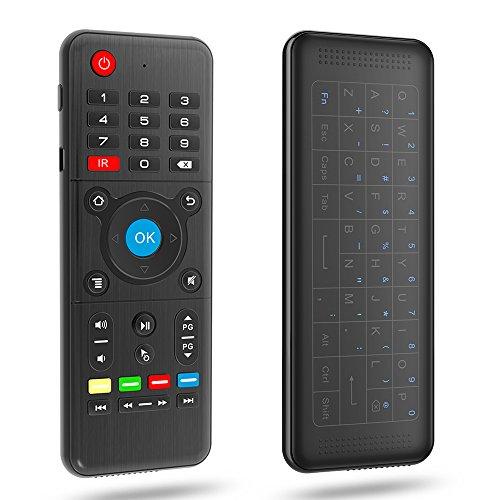Docooler H1 2,4 GHz 6-achsen Fly Air Mouse Drahtlose Tastatur Volle Touchpad Fernbedienung IR Lernen für Smart TV Android TV BOX Laptop PC (Android-tv-box-fernbedienung)