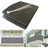 HQS®Brise-Vue/Voiles d'ombrage 500 x 90cm Abriter du Vent/la Pluie/le Soleil pour Balcon Terrasse avec Oeillets Gris