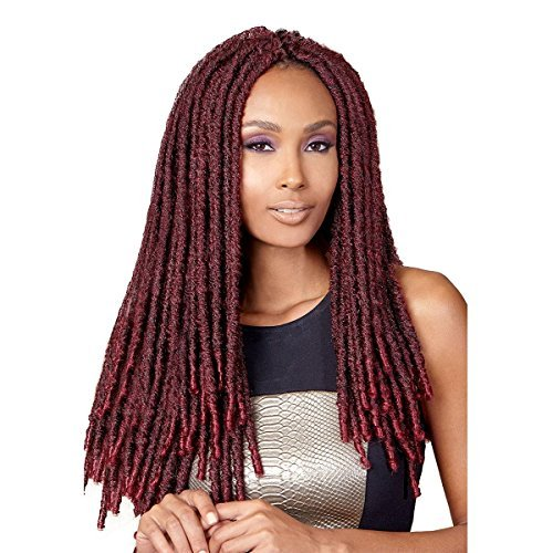 Bobbi Boss Synthetic Hair Crochet Braids Faux Locs Style Senegal Bomba Dreadlocks (1-Pack, 1B) by BOBBI BOSS