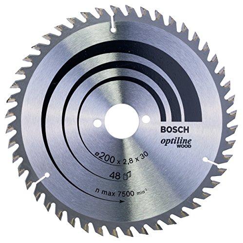 Bosch Professional Zubehör 2608640620 Kreissägeblatt Optiline Wood 200 x 30 x 2,8 mm, 48