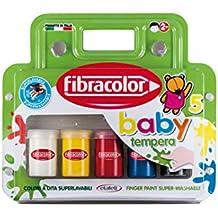 Fibracolor bebé Color de pintura Tempera Super lavable - Pack de 5