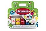 Fibracolor Baby Farbe Tempera Fingerfarben Super waschbar - 5er Pack