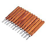 Akozon Holz Schnitzwerkzeug Set Holzschnitt Cutter Carving Knife Mini Holzbearbeitungswerkzeuge Holz für Tischler,Liebhaber, Einsteiger und Profis, Tranchiermesser Werkzeuge für holz,Obst,Gemüse