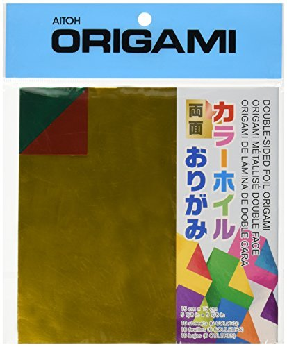 Aitoh DSF-2 Double-Sided Foil Origami Paper, 5.875-Inch by 5.875-Inch, 18-Pack by (Double Sided Foil Origami)