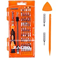 Zacro 62 in 1 Screwdriver Set with 56 Bits,Electronics Repair Tool kit for Smartphone,Notebook PC etc