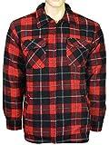 Kentex Online Herren Jacke/Hemd, Polarfleece-gefüttert, Reißverschluss, Dicke Arbeitsshirts, Winterjacke Gr. M, Desing-4