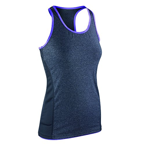 Spiro - Débardeur de fitness - Femme Gris/Lavande