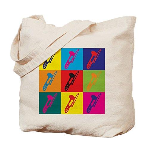 CafePress–Posaune Pop Art–Leinwand Natur Tasche, Reinigungstuch Einkaufstasche Tote S khaki