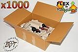 1000 x PREMIUM-Karton 62 cm lang, 40 cm breit, 23,5 cm hoch Umzugskarton, ca. 60 x 40 cm stapelbar, HANDLICH & STABIL, Lagerkarton doppelwellig, EXTREM ROBUSTER VERSANDKARTON, 620 x 400 x 235 mm / 62 x 40 x 23,5 cm hochwertige > 50 KG (!) 60 x 40 cm Industriekartons BC-Doppelwelle mit Kraftdeckung, 1x mit hochwertigem Klebeband zusammengebaut - jahrelang wiederverwendbar, Bücherkarton, Archivkarton, Aufbewahrungskartons für Wintersachen Spielzeug Weihnachten