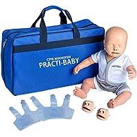 PULOX Trainingspuppe Practi-Baby mit Gesichtsmaske, 5 Luftbeuteln und Tragetasche preisvergleich bei billige-tabletten.eu