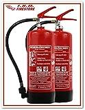 2 Stück 6L Schaum Dauerdruck-Feuerlöscher, EN 3 -vom Brandschutz Fachhändler-