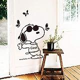 Conception pas cher décoration de la maison vinyle Art dessin animé mur de chien autocollant amovible PVC maison décor créatif...