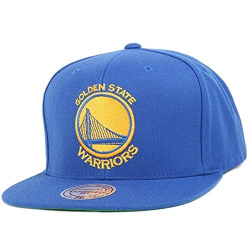 Mitchell & Ness Herren Snapback Cap Wool Solid NBA Golden State blau Einheitsgröße