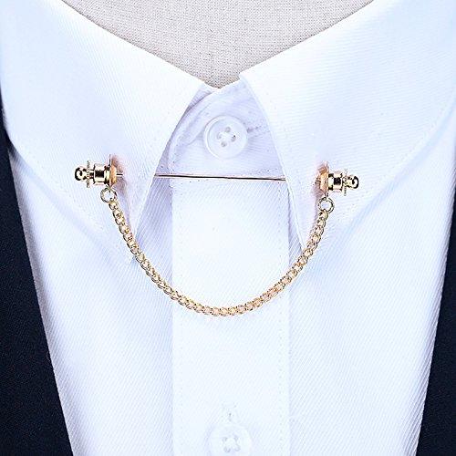 Gehobene Kostüme (Koreanische Persönlichkeit anstecknadel Männer - brosche - französische hemd kragen das Wort kette Knopf quasten)