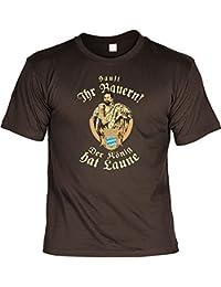 sabuy T-Shirt - Sauft Ihr Bauern - der König Hat Laune - Lustiges Bayerisches Sprüche Shirt Ideal Für's Oktoberfest Statt Lederhose und Dirndl