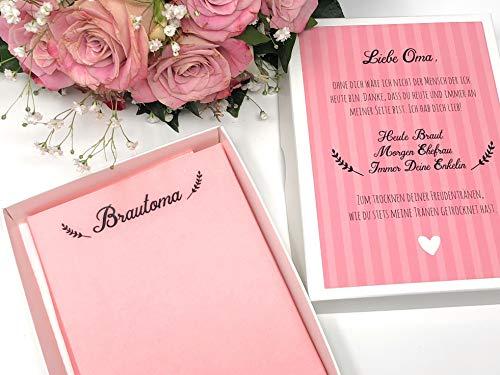 Hochzeit Geschenk Brautoma - Taschentuch für Freudentränen (Braut-taschentuch Der Mutter)