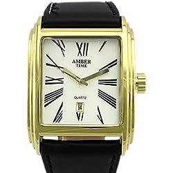 BIG TIMER Armbanduhr leises Quarzwerk Uhr Over-Size-One Goldfarbig inkl. Geschenk-Box Sehr edel! GYD a00106