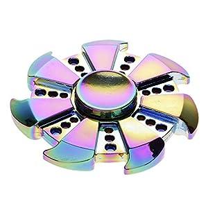 HuntGold Fidget spinner toy de Dazzle espejo rueda Stress Reducer y Rodamientos Ultra Rápidos,para Relax Y Práctica de Niños Adultos