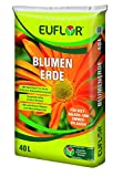 Euflor Blumenerde 40L Sack lockere-aufgedüngte Erde für den universellen Einsatz im Innen-und Außenbereich,Reichhaltige Grunddüngung für hervorragendes Wachstum und reichhaltiges Blühen der Pflanzen