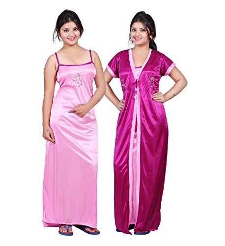 4f0b4688dd Bailey Women's Satin Night Dress (Pack of 2) Available Sizes: Free Size  Available Colors: Pink