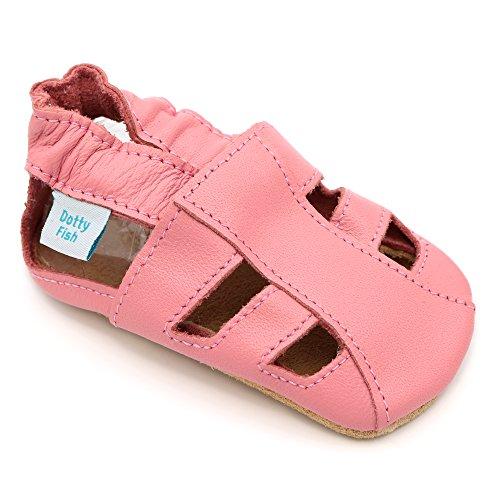 Bimbo Bimba morbido pelle sandalo scarpe scamosciato - Navy - Dotty Fish - ragazzo ragazza Rosa