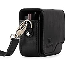 MegaGear MG1263 Leather Camera Case with Strap for Leica C Type 112 - Black